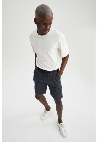 DeFacto navy Regular Fit Sweatshirt Bermuda Shorts A6AE2AABD78F93GS_1