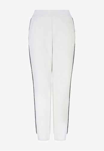 Armani Exchange white AX Armani Exchange Women Contrasting Detail Sweatpants - Spring & Summer 2021 Collection 4001CAA59FB215GS_1