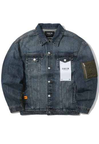 Fivecm navy Zip pocket denim jacket E3564AAAB26C22GS_1
