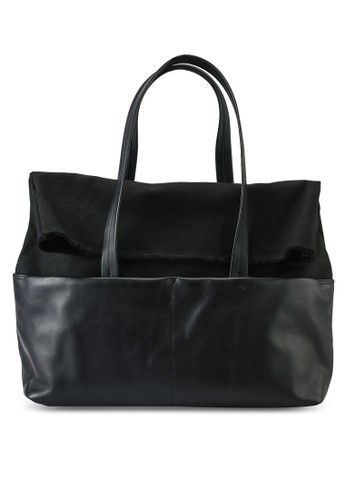 agnès b. black Shoulder Tote 2775AAC942FAEBGS_1