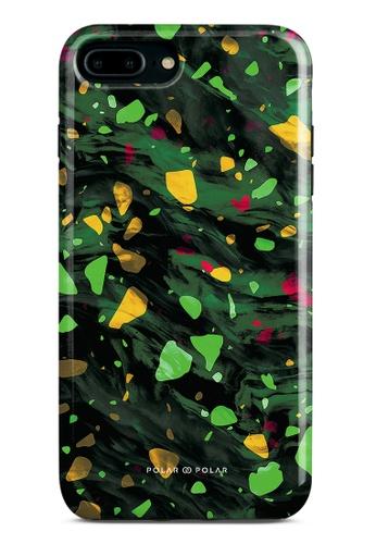 Polar Polar green Malachite Terrazzo Gem Dual-Layer Tough Case Glossy For iPhone 8 Plus/7 Plus 7E783ACB42C826GS_1