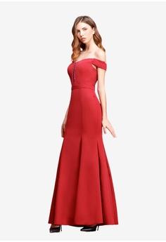 1ed501e00b9 O MUSES Complex V-collar Braided Mermaid Maxi Dress HK  758.00. Sizes S M L  XL