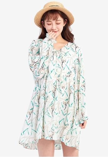 Tokichoi white Floral Printed Flowy Dress D00C7AA64FF2F6GS_1
