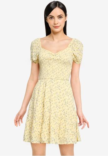 Hollister yellow Short Dress 9801CAACFE08CBGS_1