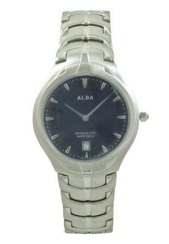 Alba silver ALBA Jam Tangan Pria - Silver Black - Stainless Steel - AVKB19 AL383AC0V4YVID_1