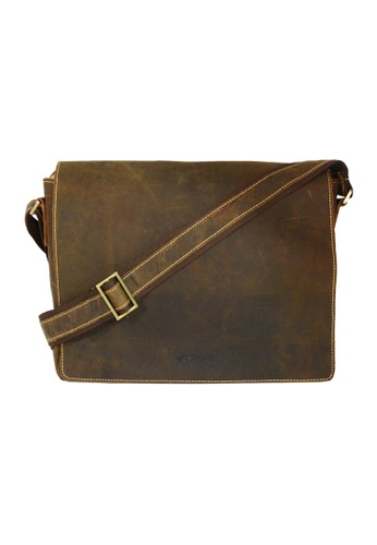 EXTREME brown Extreme Vintage Leather Sling Bag (13inch Laptop) 16AC4ACF81BA16GS_1