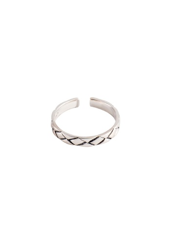 OrBeing white Premium S925 Sliver Woven pattern Ring BAB7FACE4107C5GS_1