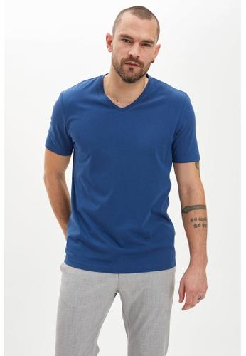 DeFacto blue Man T-Shirt 249EFAAB4DCB1BGS_1