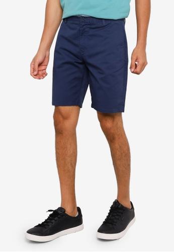 Springfield blue Elastic Chino-Style Bermuda Shorts 8DB86AA7D26129GS_1