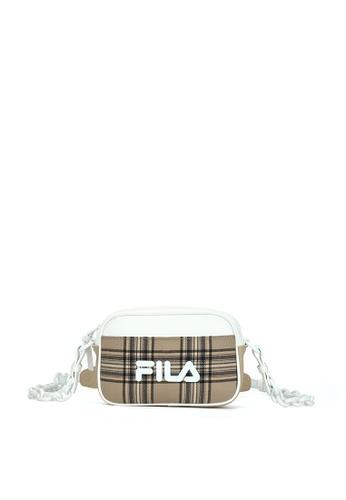 FILA brown FUSION Women's FILA Logo Checked Crossbody Bag AD1F3AC3B4DED5GS_1
