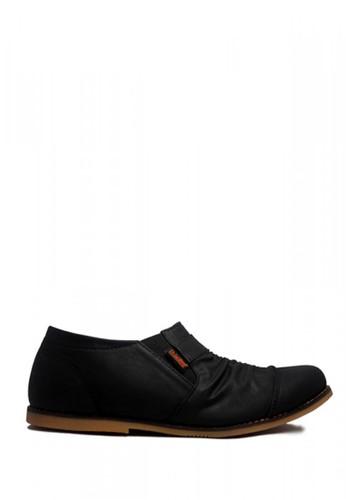 D-Island black D-Island Shoes Slip On Wrinkle Comfort Leather Black 09407SH70449E0GS_1