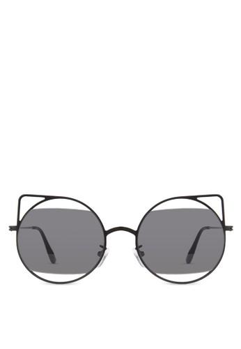 JP0126 鏤空貓眼太陽眼鏡, 飾品zalora 台灣配件, 飾品配件