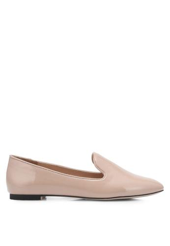 ZALORA beige Patent Loafers 1C166SH9C225BFGS_1