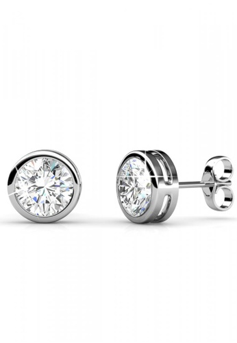 Her Jewellery silver Her Jewellery Simplicity Earrings (White Gold) with 18K Gold Plated 3B94FAC409499FGS_1