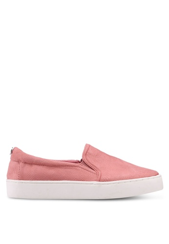 TOPSHOP pink Pink Taylor Slip On Trainers 71538SH0BC2507GS_1