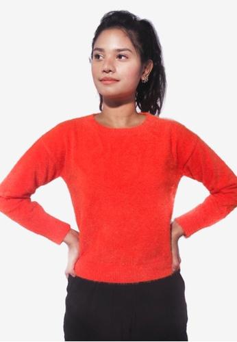 RFLCTVE orange Long Sleeve Knit Sweater 9B985AA2C092E3GS_1