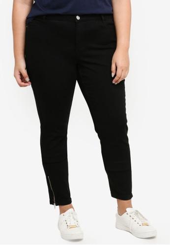 Junarose black Plus Size Woven Jeans 4C29AAAA77677DGS_1