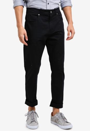 Calvin Klein 黑色 Slub Twill 5 Pocket Pants - Calvin Klein Jeans 165FDAAD0334B0GS_1