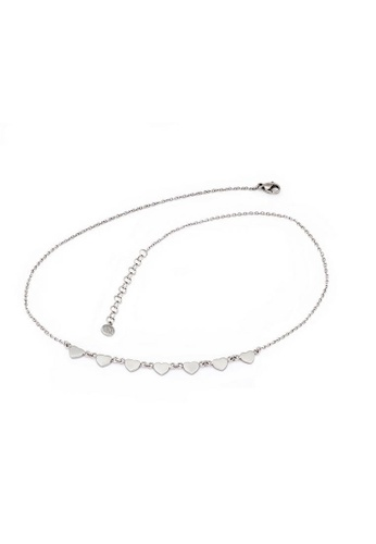 Morellato silver Insieme Necklace SAHM03 Stainless Steel Crystals 44D12AC76E6932GS_1