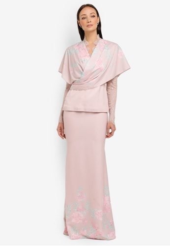Willow Kurung Modern from NH by NURITA HARITH in Pink