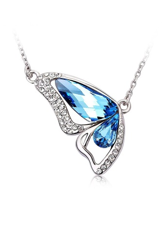 OUXI blue OUXI Butterfly Crystal Necklace OU821AC20OFZMY_1