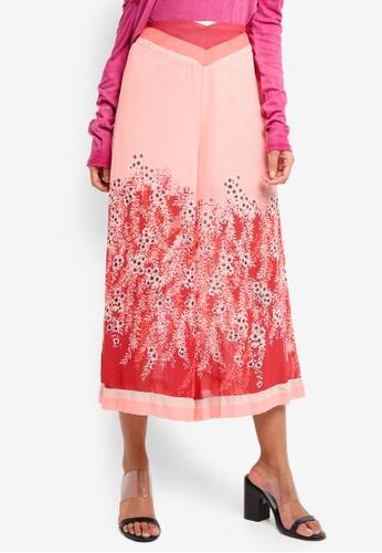 Free People pink Off The Grid Printed Culotte Pants 16510AADB2DC18GS_1
