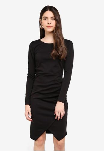ICHI black Kate Dress E942DAA269FB05GS_1