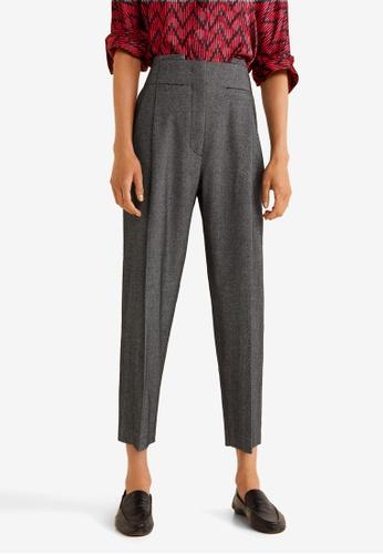 4e2c82e7b714 Buy Mango Flecked Suit Trousers Online on ZALORA Singapore