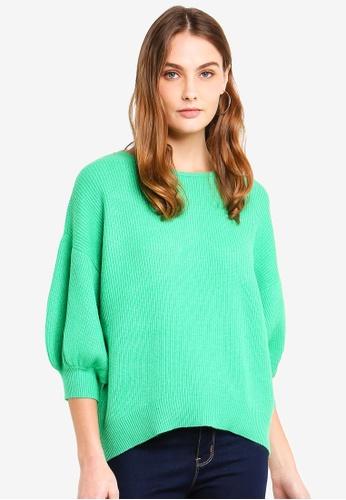 ESPRIT green 3/4 Sleeve Sweater A6BCEAA72D5163GS_1