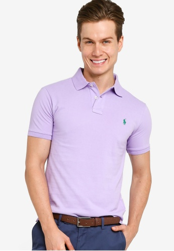 Ralph Lauren Men/'s Short Sleeve Custom Fit Logo Pique Polo Shirt $0 Free Ship