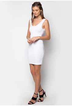 Mini Dress Sleveless Plain