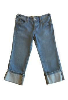 Girlfriend Cuff Denim Jeans