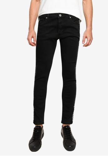 Brave Soul black Regular Length Tape Skinny Fit Jeans 18C6FAA06458AEGS_1
