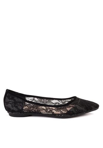 Twenty Eight Shoes 黑色 蕾絲平底鞋 VL102810 ABBA9SH8690E04GS_1