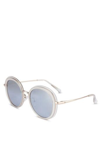 BLANC & ECLARE white Portofino Sunglasses B6706GL4061A19GS_1