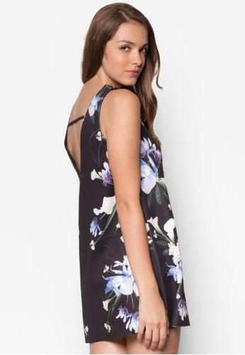 Ikeesprit門市地址bana 印花無袖直筒連身裙, 服飾, 洋裝