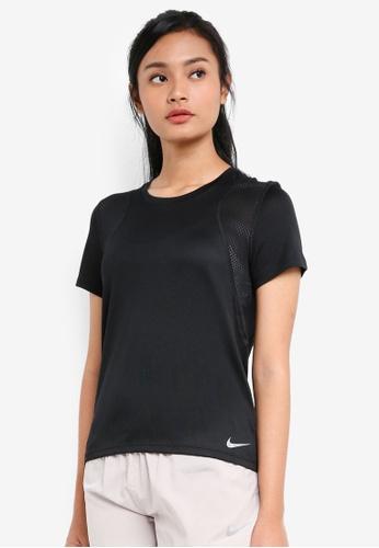 Nike black Women's Nike Short-Sleeve Running Top E46F7AA536F659GS_1