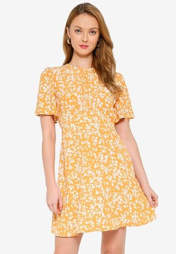 MISSGUIDED 黃色 喇叭袖短洋裝 B5A24AA3B8BFFCGS_1