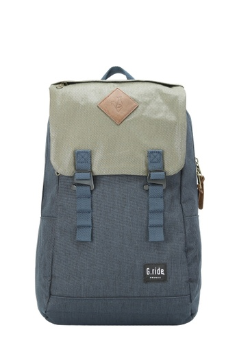 G.ride green and navy Albert Backpack B9F59ACEA28AC6GS_1