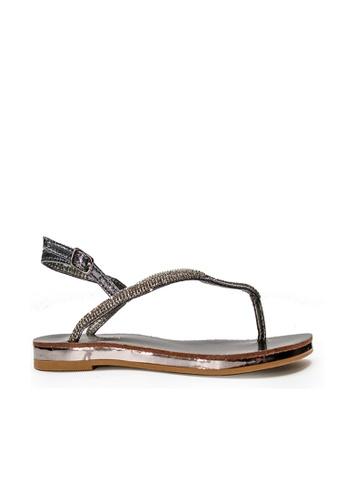 SEMBONIA grey SEMBONIA Synthetic Leather Slip On Sandal (Grey) 8E763SHF338323GS_1