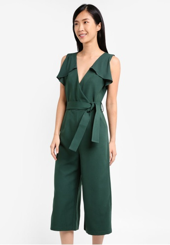 ZALORA green Wrap Jumpsuit AD459AA59C1C72GS_1