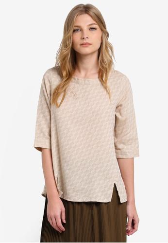 Geb. beige 3/4 Sleeve Top GE945AA0RWCUMY_1