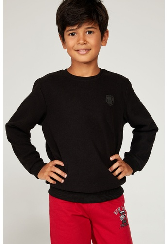 DeFacto black Long Sleeve Round Neck Sweatshirt 24E94KACA06200GS_1