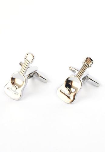 Splice Cufflinks silver Ukulele Cufflinks SP744AC12DALSG_1