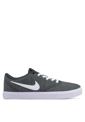 Nike green Men's Nike Sb Check Solarsoft Canvas Premium Skateboarding Shoes A047FSHE823284GS_1