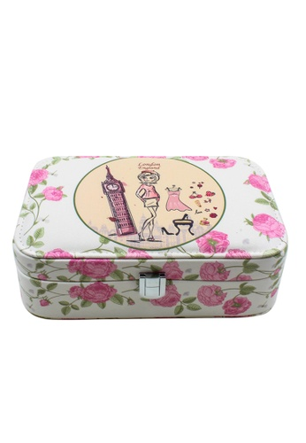 Venice Jewelry pink Fashionable Printed Jewelry box JBPS-PR-01 VE564AC26RVLPH_1