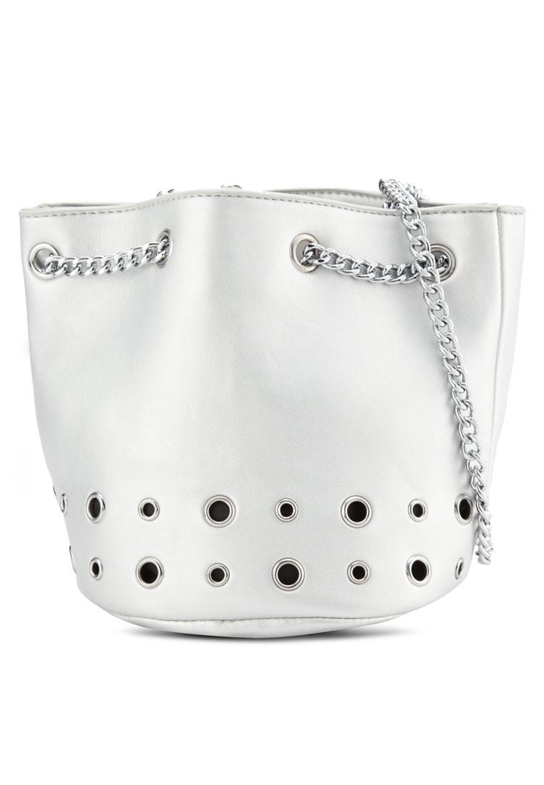 Rivet Chain Round Sling Bag