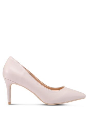 Nose 米褐色 Pointed Toe Heel Pumps C451BSH2B7BF1AGS_1