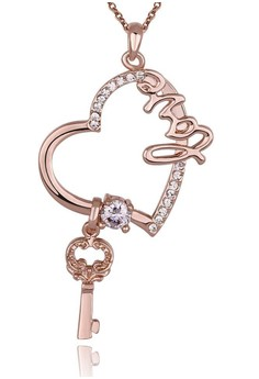 18k Rose Gold Plated My Love Necklace