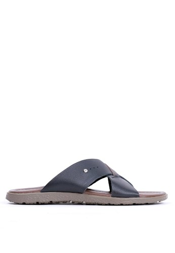 Tony Perotti black Tony Perotti Sandals Ezio - Black B1A87SHC5D9CBEGS_1